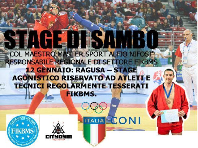 Stage di Sambo 12 gennaio 2020